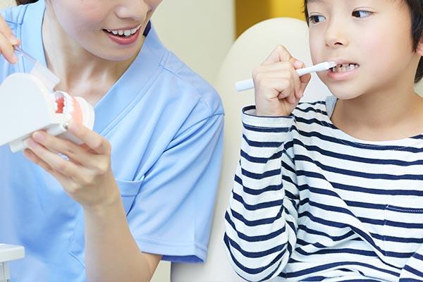 仕上げ磨き指導・歯磨き指導